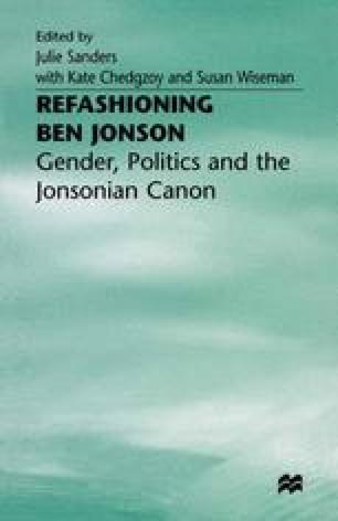 Refashioning Ben Jonson