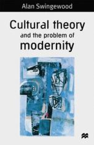 Cultural Theory and the Problem of Modernity