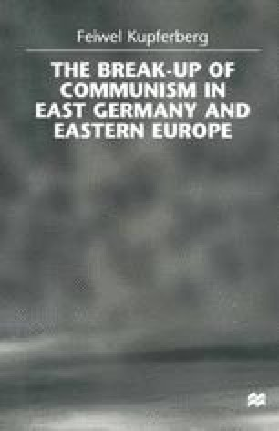 The Break-up of Communism in East Germany and Eastern Europe