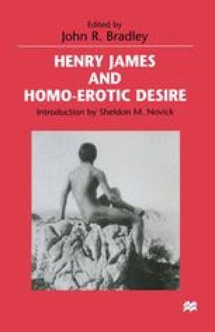 Henry James and Homo-Erotic Desire