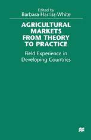 Agricultural Markets from Theory to Practice