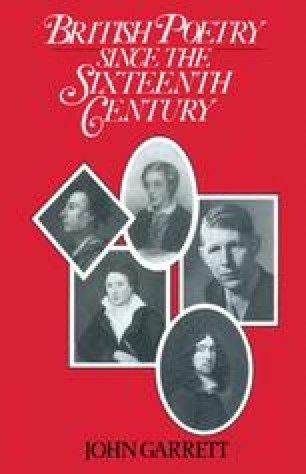 British Poetry Since the Sixteenth Century