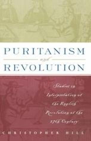 Puritanism and Revolution