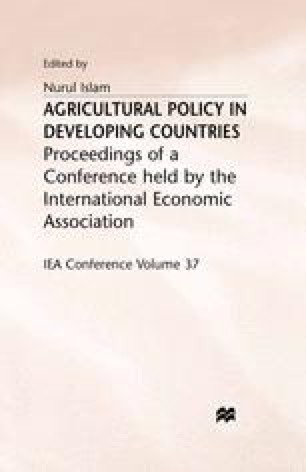 Agricultural Policy in Developing Countries