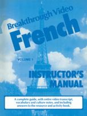 Breakthrough Video French