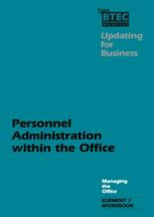Personnel Administration within the Office