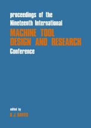Proceedings of the Nineteenth International Machine Tool Design and Research Conference