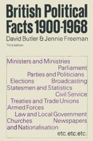 British Political Facts 1900–1968