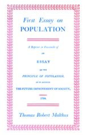 First Essay on Population 1798