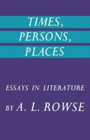Times, Persons, Places