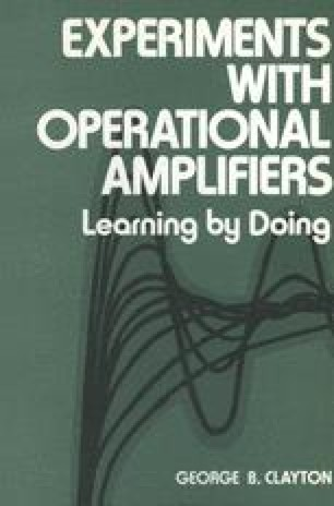 Experiments with Operational Amplifiers