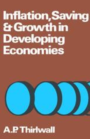 Inflation, Saving and Growth in Developing Economies