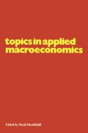 Topics in Applied Macroeconomics