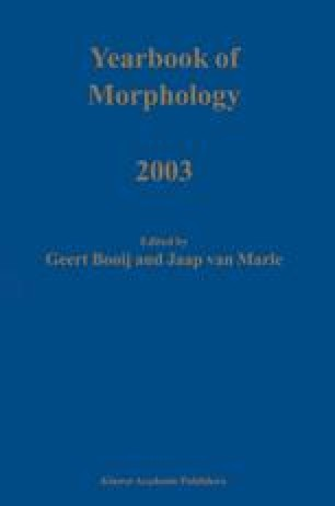 Yearbook of Morphology 2003