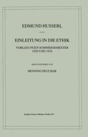 Einleitung in die Ethik