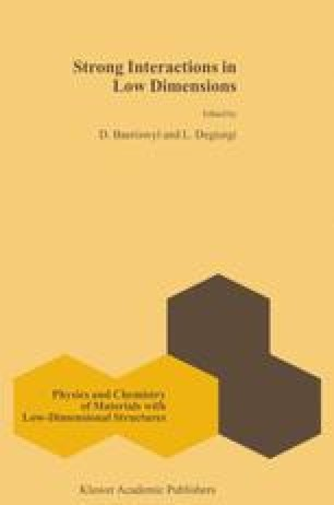 Strong interactions in low dimensions