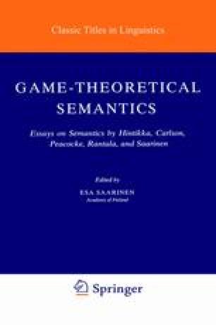 Game-Theoretical Semantics