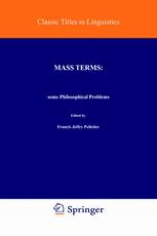 Mass Terms: Some Philosophical Problems