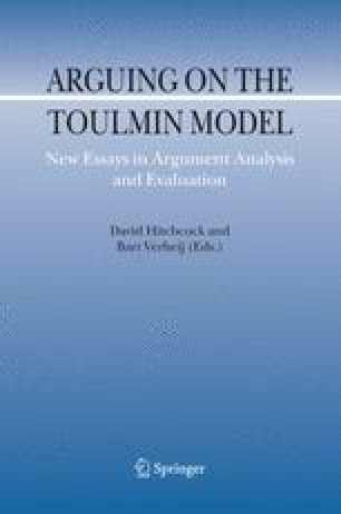 Arguing on the Toulmin Model