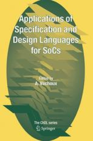 Applications of Specification and Design Languages for SoCs