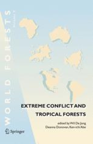Extreme Conflict and Tropical Forests