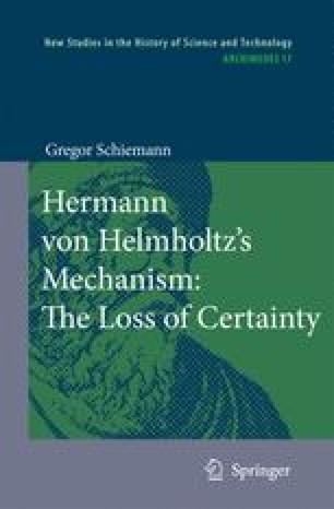 Hermann von Helmholtz's Mechanism: The Loss of Certainty