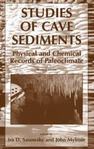 Studies of Cave Sediments