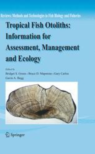 Tropical Fish Otoliths: Information for Assessment, Management and Ecology