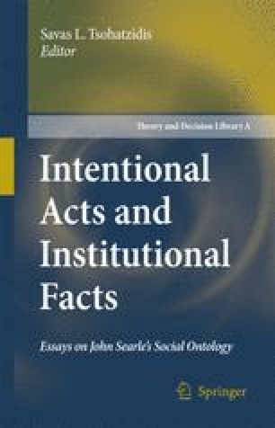 Collective Intentionality, Norms and Institutions
