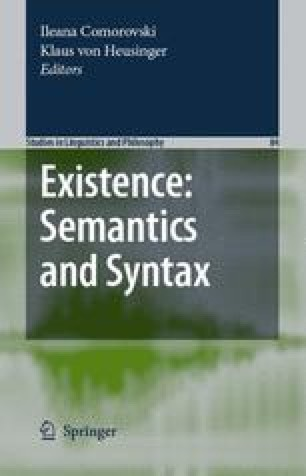 Existence: Semantics and Syntax