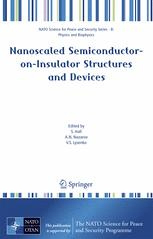 Nanoscaled Semiconductor-on-Insulator Structures and Devices