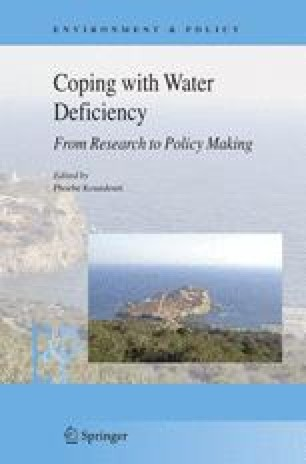 Coping with Water Deficiency