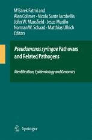 Pseudomonas syringae Pathovars and Related Pathogens – Identification, Epidemiology and Genomics