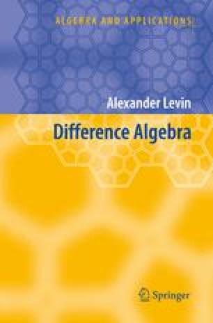 Difference Algebra