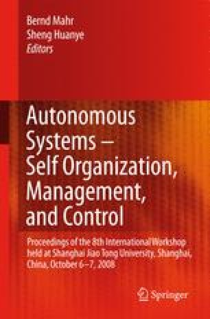 Autonomous Systems – Self-Organization, Management, and Control