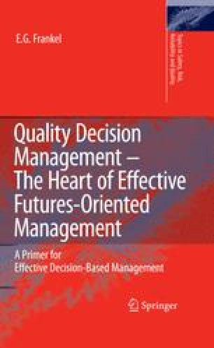 Quality Decision Management - The Heart of Effective Futures-Oriented Management