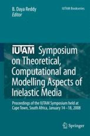 IUTAM Symposium on Theoretical, Computational and Modelling Aspects of Inelastic Media