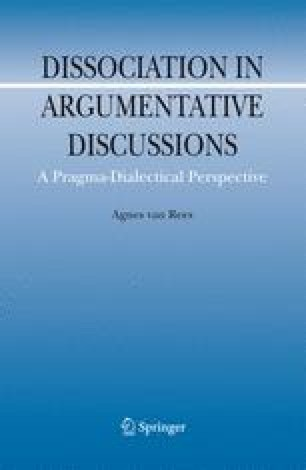 Dissociation In Argumentative Discussions