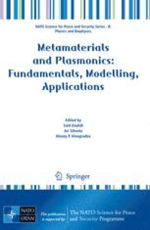 Metamaterials and Plasmonics: Fundamentals, Modelling, Applications