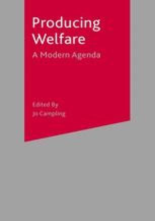 Producing Welfare