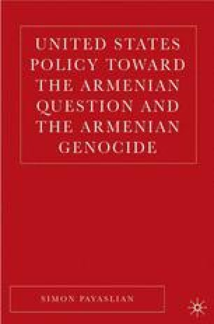 United States Policy toward the Armenian Question and the Armenian Genocide