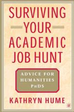 Surviving Your Academic Job Hunt