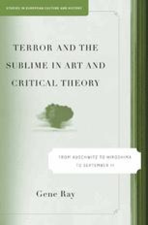 Terror and the Sublime in Art and Critical Theory