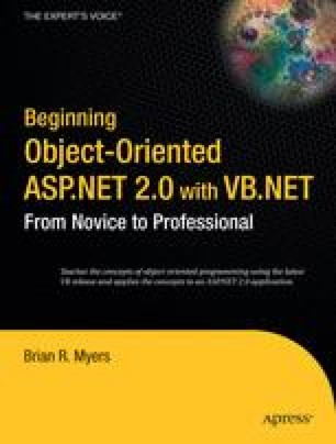 Beginning Object-Oriented ASP.NET 2.0 with VB.NET