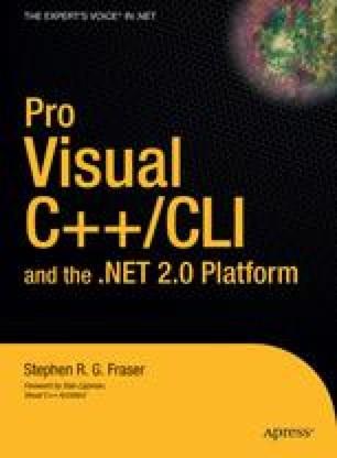 Pro Visual C++/CLI and the .NET 2.0 Platform