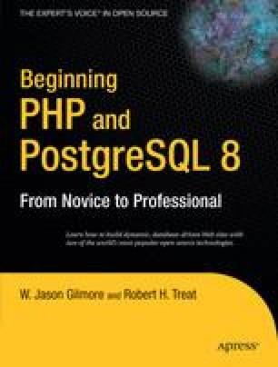 Beginning PHP and PostgreSQL 8