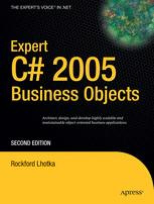 Expert C# 2005 Business Objects