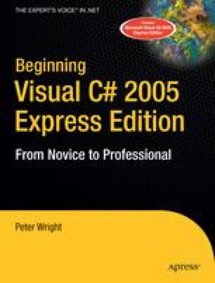 Beginning Visual C# 2005 Express Edition