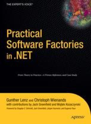 Software Factory Schema: Application Development Process