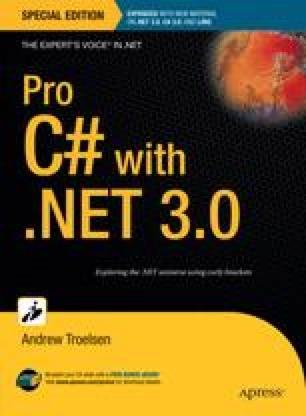 Pro C# with .NET 3.0